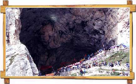 Entrance to the Amarnath Cave