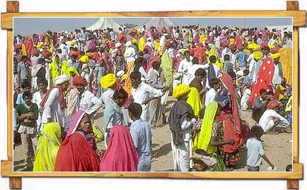 Crowd at Pushkar Fair