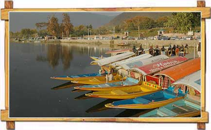 Shikaras Stranded on Dal Lake