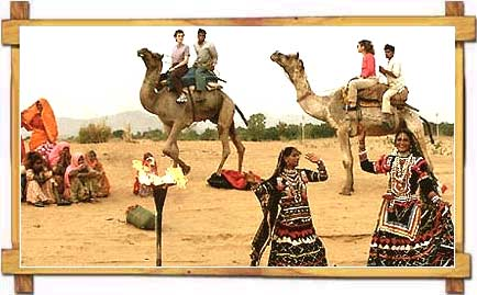 Traditional Rajasthan dance in Thar Desert