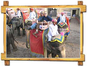 Elephant Ride to Amer Fort