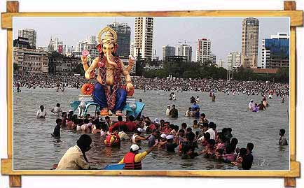The Lord Ganesh's Immersion Ritual