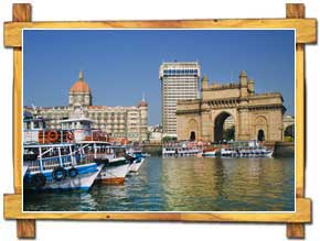 View At the Gateway of India in Mumbai