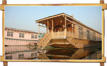 A Houseboat in Kashmir