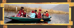 Kashmiri Children on a Boat Cruise