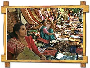 Lady Shopkeepers at Janpath Market,Delhi