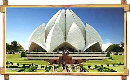 The Amazing Lotus Temple in the Afternoon