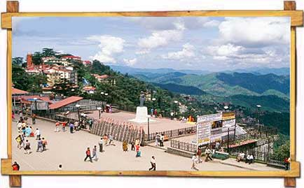 Famous Mall Road of Shimla
