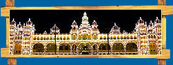 Decorated Mysore Palace on Dussehra