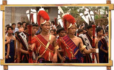 Ceremonial Procession By Nagaland Tribes