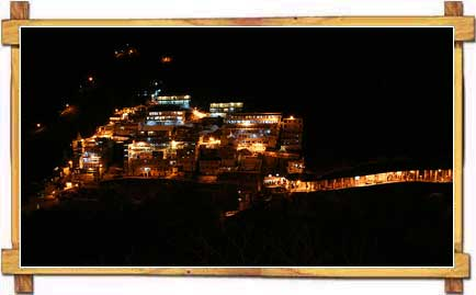 Night View of Vaishno Devi Temple