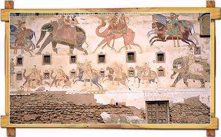 Painting on a Wall at Shekhawati Region