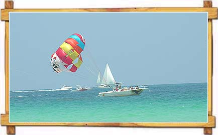 Parasailing on  Goa Beaches