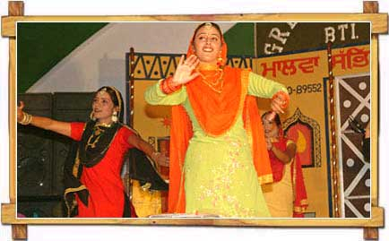 "Dancers Performing ""Gidda""  Punjabi Traditional Dance"