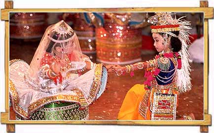 Traditional Raas Lila Performance By Children