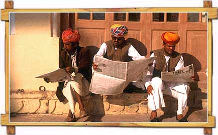 Rajasthani People reading Newspaper