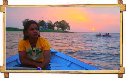 Rowing At Lakes of Bhopal During Sunset