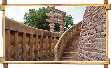 Staircase Leading to the Interiors of Sanchi Stupa
