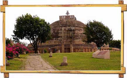 View of The Stupa at Sanchi
