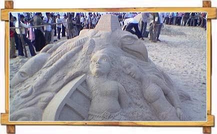 Sand Art at Mangalore Beach, Mangalore