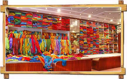 A Saree shop in Jaipur