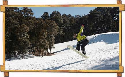 Snow Boarding in Auli
