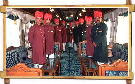 Staff inside Palace on Wheels