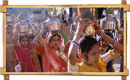 Girls at Teej Festival , Rajasthan
