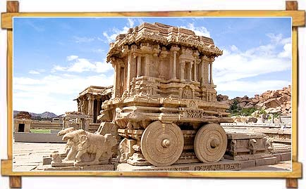 The stone Chariot, Hampi, Karnataka