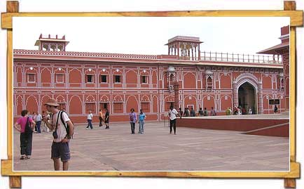 Tourists at City Palace , Jaipur
