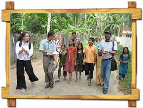 Tourists with Village Kids, Cochin