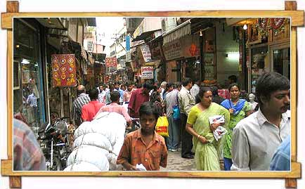 Walking in narrow Lanes of Chandni Chowk